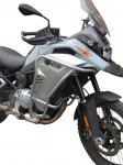 Crash bars for BMW F 850 GS Adventure - Bunker silver + universal lights brackets