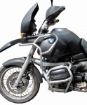Full bunker crash bars with Bags for BMW R 1100 GS (1995-1999) - silver