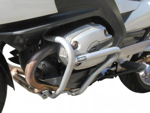 Crash bars for BMW R 1200 RT (2005-2013) silver - front + rear