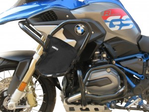 Crash bars with Bags for BMW R 1200 GS (2017 - 2018) - Full bunker Exclusive black