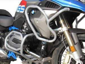 Crash bars with Bags for BMW R 1200 GS (2017 - 2018) - Full bunker Exclusive silver