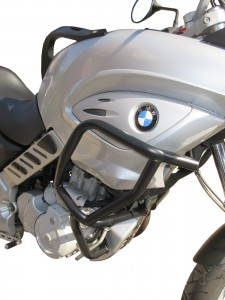 Crash bars with Bags for BMW F 650 CS