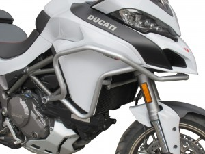 Crash bars with Bags for Ducati Multistrada 1260 / 1260s - silver