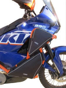 Bags for HEED crash bars for KTM 950 / 990 Adventure - upper and lower