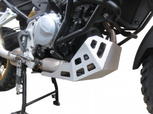 Engine guard for BMW F 750 GS / F 850 GS  - raw aluminium