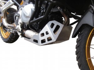 Engine guard for BMW F 750 GS / F 850 GS  - steel silver