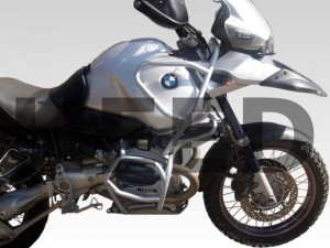 Crash bars for BMW R 1150 GS Adventure (2001-2005) - Full Bunker silver