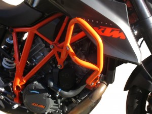 Crash bars for KTM 1290 Super Duke R (2014 - 2016) - orange