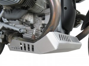 Engine guard for BMW R 1200 GS (2004-2012) - raw aluminium