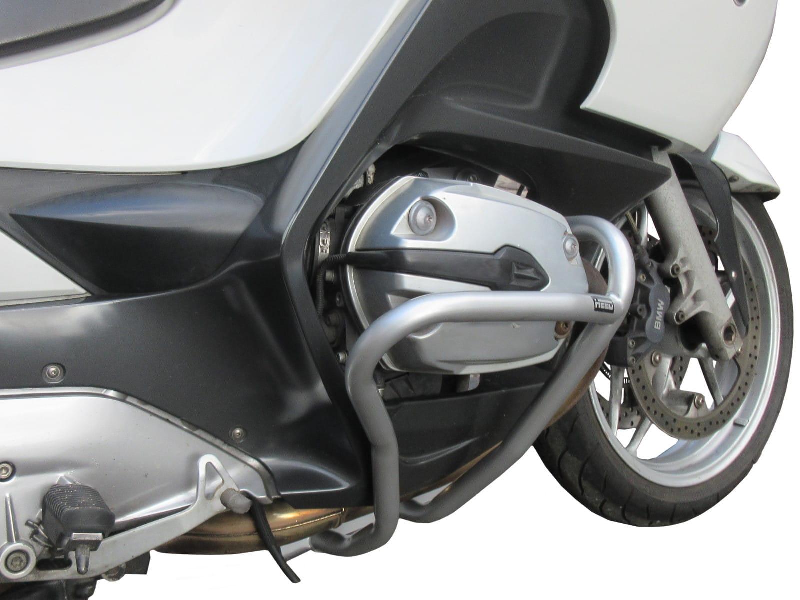 Engine Guard Rear Back Crash Bar Silver Protector Kit Fits BMW R1200RT 2005-2013