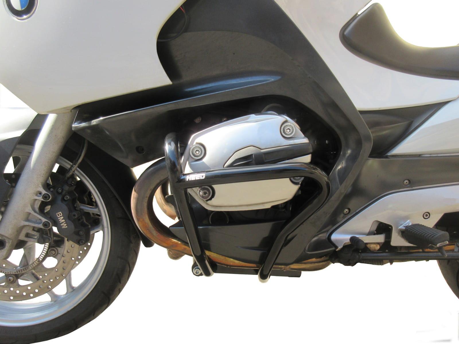 MotorFansClub Rear Crash Bar Fit For Compatible With BMW R1200RT Rear Bar Highway Crash Bars 2005-2013 Black
